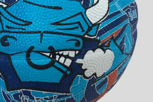 Basketball design Street art for Novo Nordisk YNOTBOB Graphic Design – Grafisk Design