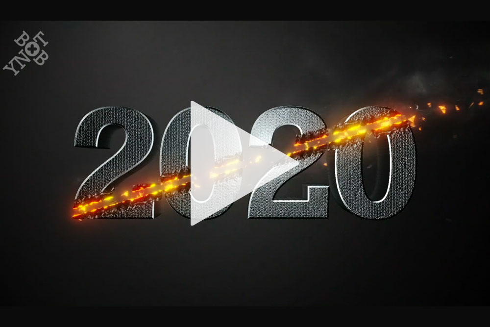 YNOTBOB 3D Motion Graphics Happy New Year